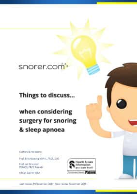 Snoring & Obstructive Sleep Apnoea Overview Guide