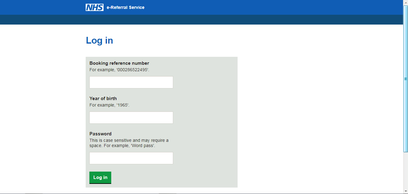 NHS e-Referral website